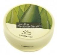 Крем очищающий с экстрактом алое THE FACE SHOP Herb day cleansing cream 150 мл: фото