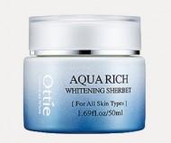 Увлажняющий энергетический крем щербет OTTIE Aqua Rich Whitening Sherbet 50мл: фото